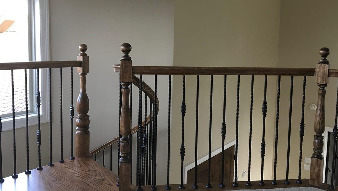 Staircase landing